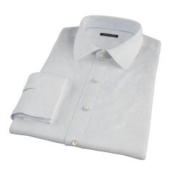 140s Light Blue Wrinkle Resistant Fine Grid Tailor Made Shirt