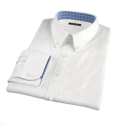 White Heavy Oxford Fitted Shirt