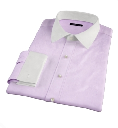 Lavender Wrinkle-Resistant Cavalry Twill Men's Dress Shirt