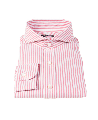 Thomas Mason Red Stripe Oxford Custom Made Shirt