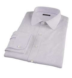Canclini Lavender Dobby Stripe Custom Dress Shirt