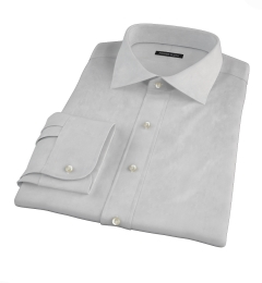 Bowery Light Grey Wrinkle-Resistant Pinpoint Men's Dress Shirt