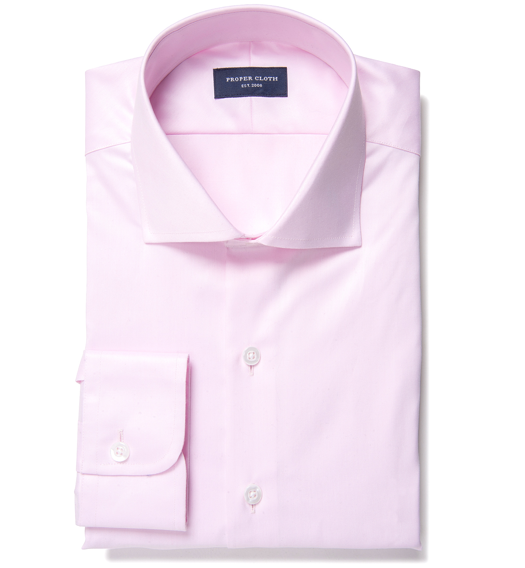 Hudson pink wrinkle resistant twill custom made shirt by for Wrinkle resistant dress shirts