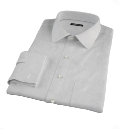 Bowery Light Grey Wrinkle-Resistant Pinpoint Custom Dress Shirt