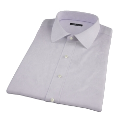 Canclini Lavender Imperial Twill Short Sleeve Shirt