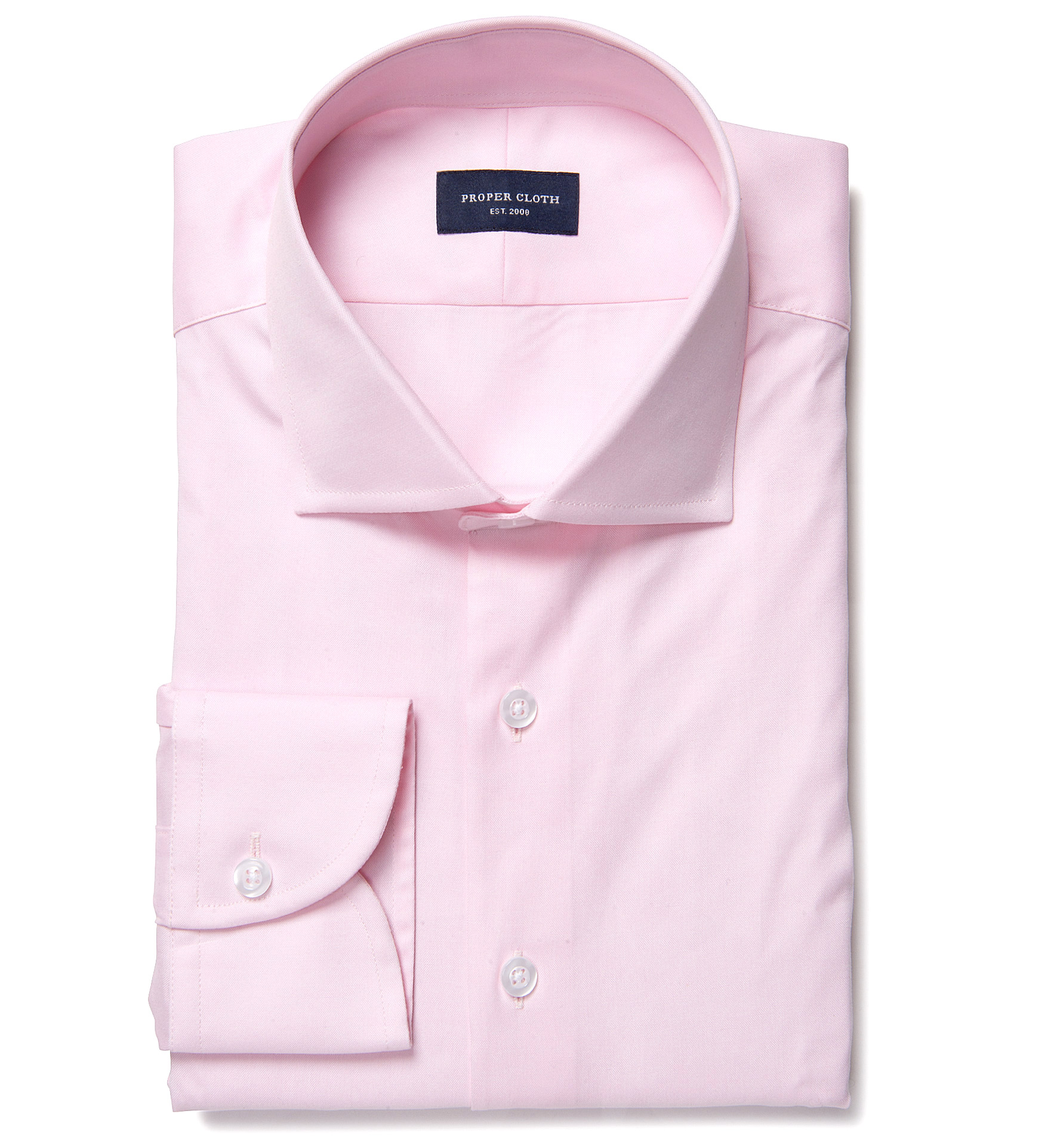 Bowery pink wrinkle resistant pinpoint custom dress shirt for Wrinkle resistant dress shirts