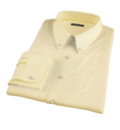 Bowery Yellow Wrinkle-Resistant Pinpoint Fitted Dress Shirt