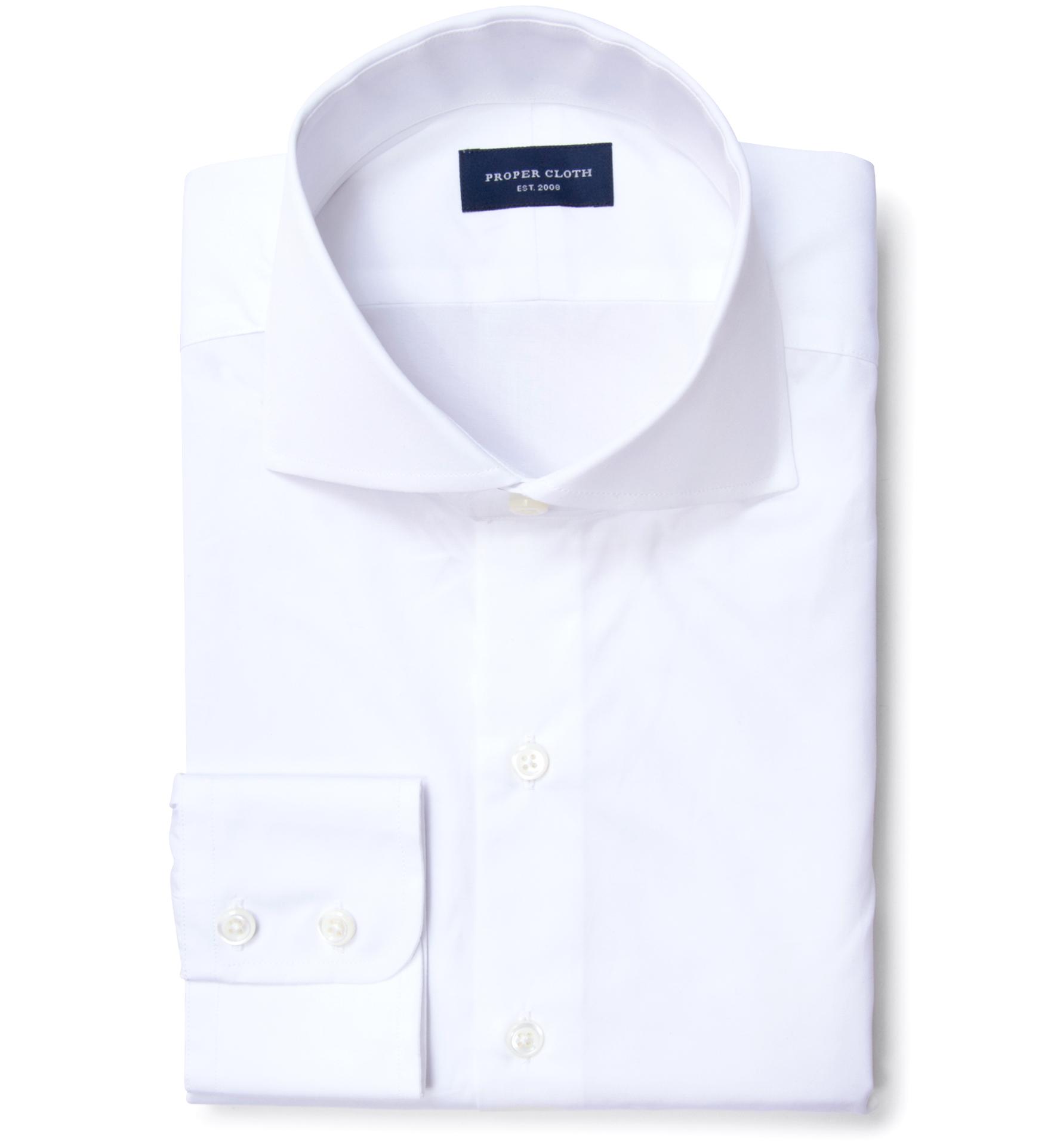 Thomas Mason White Luxury Broadcloth Men 39 S Dress Shirt By