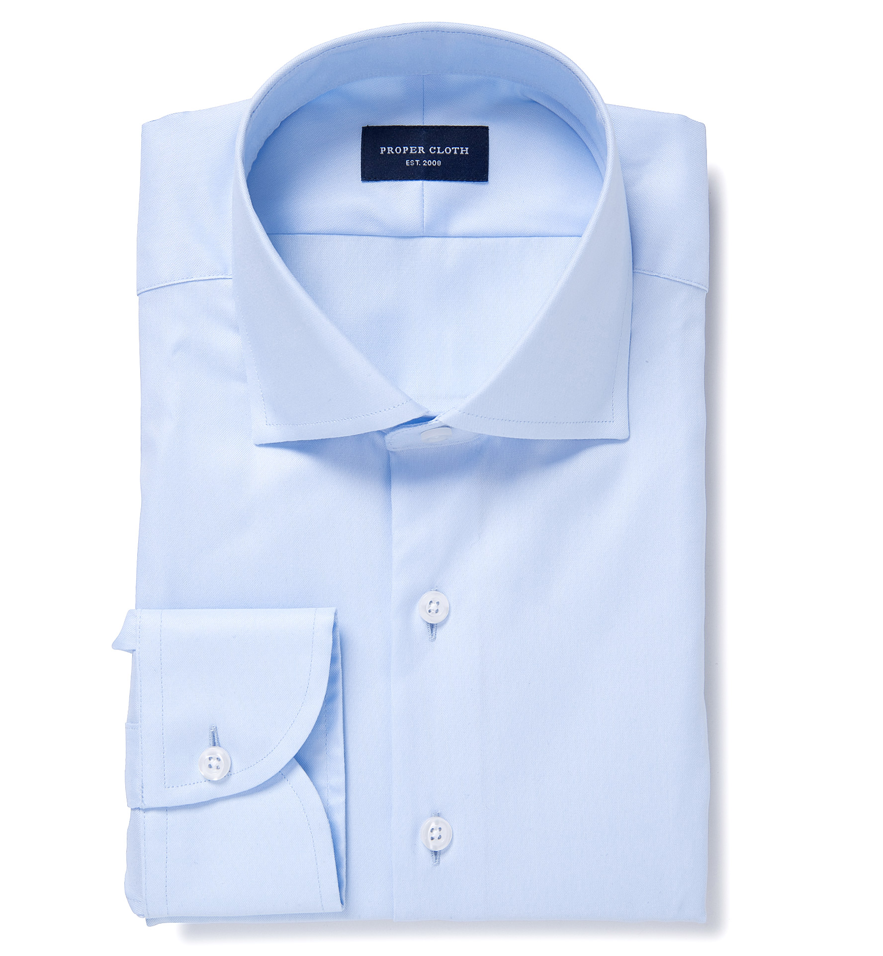 Light blue extra wrinkle resistant pinpoint fitted dress Best wrinkle free dress shirts