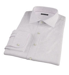 Pink University Stripe Heavy Oxford Tailor Made Shirt
