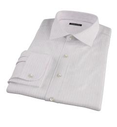 Pink University Stripe Heavy Oxford Tailor Made Shirt