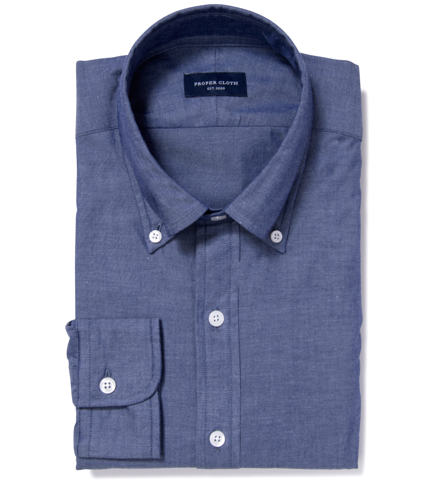 Howard street chambray tailor made shirt by proper cloth for Proper cloth custom shirt price