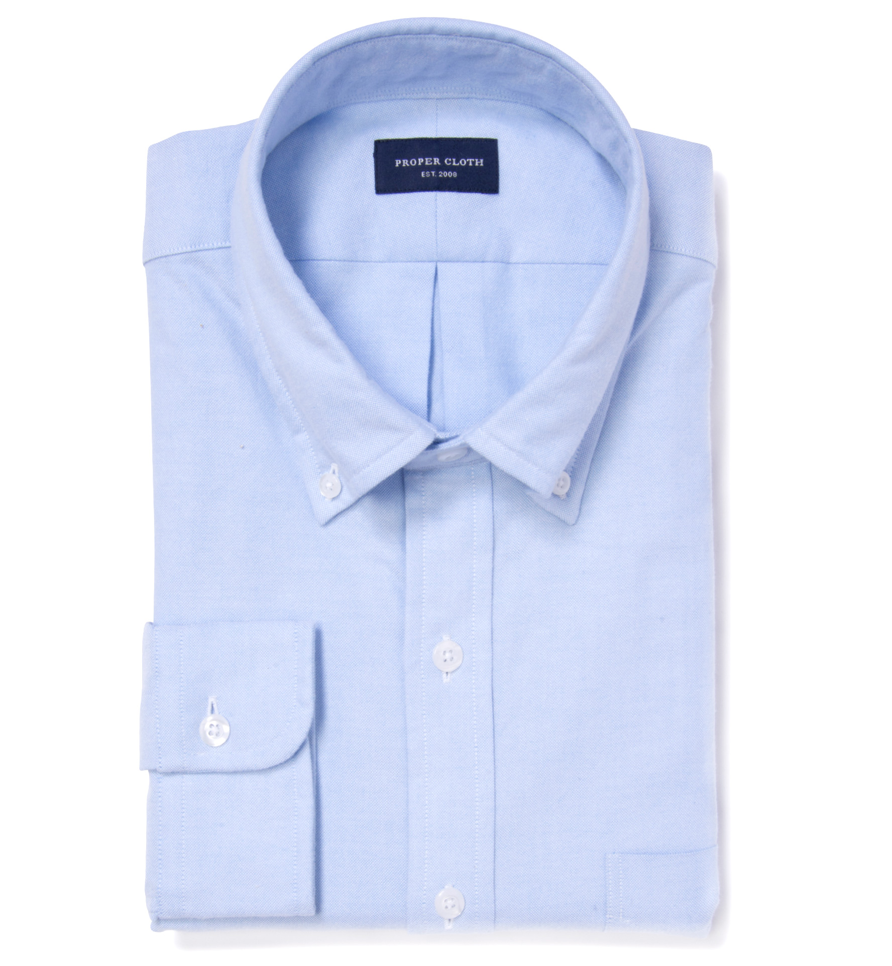 Light blue flannel oxford dress shirt by proper cloth for Proper cloth custom shirt price