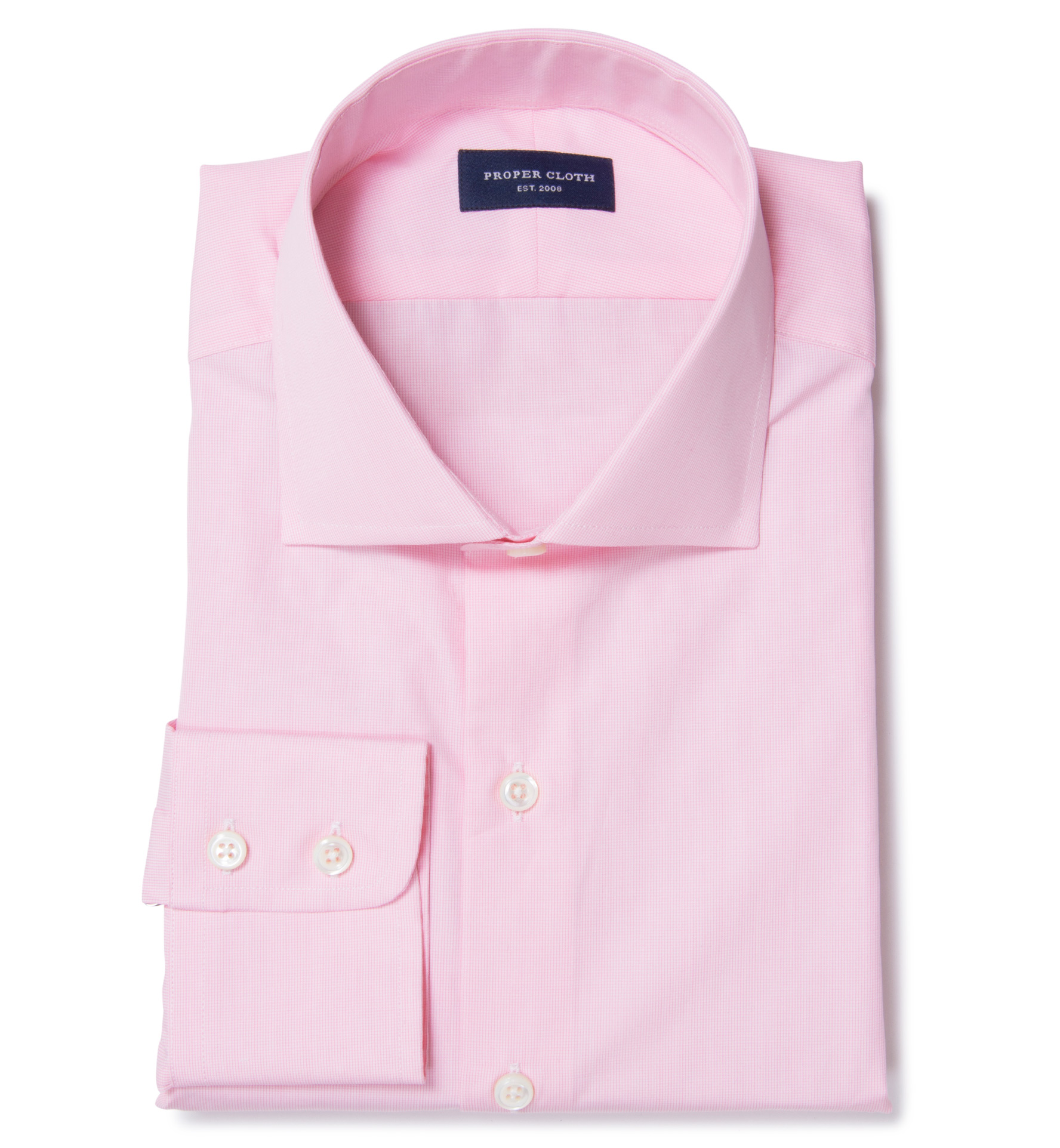 Thomas Mason 120s Pink Mini Grid Men 39 S Dress Shirt By