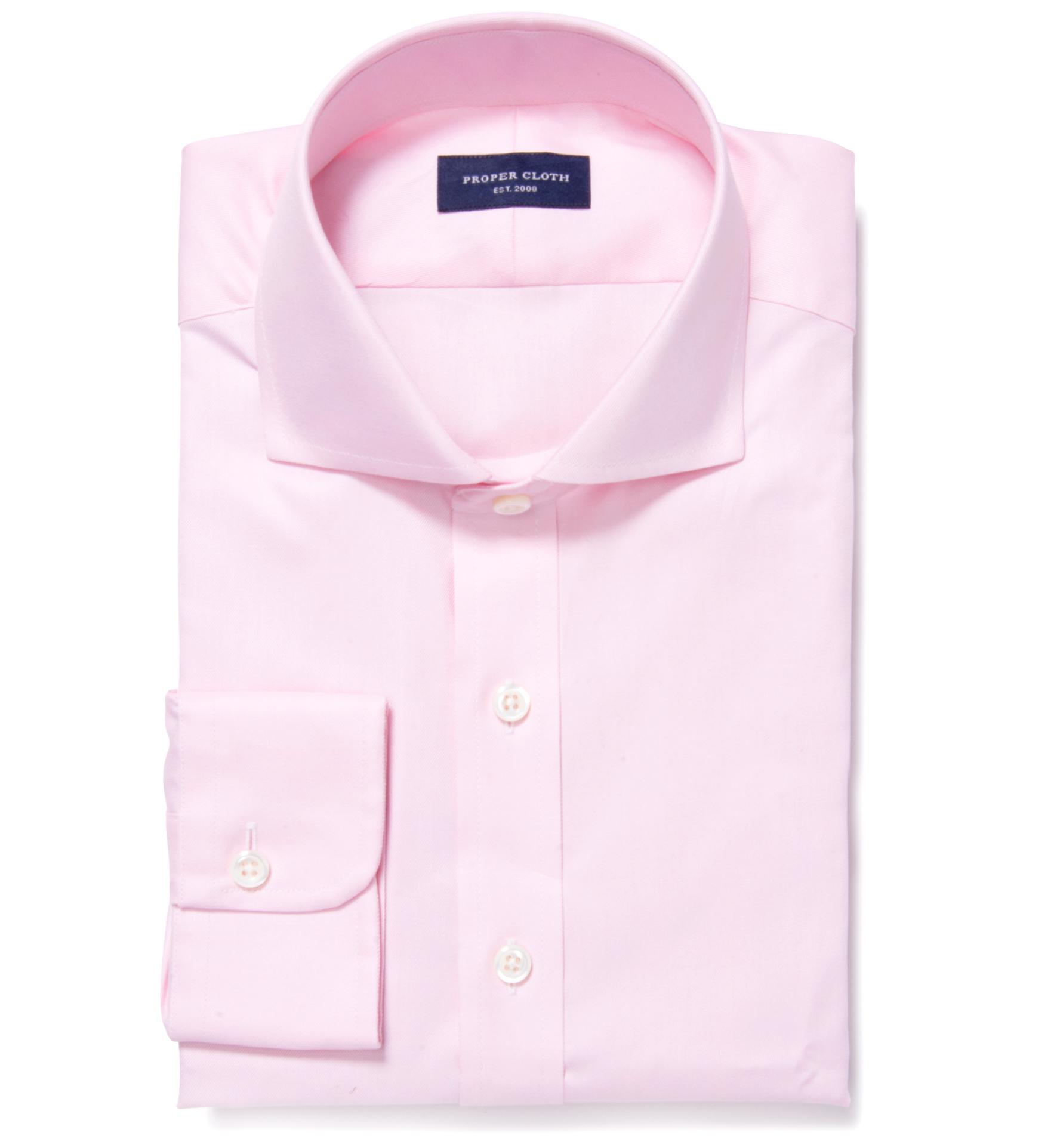 Thomas mason pink fine twill fitted dress shirt by proper for Thomas mason dress shirts