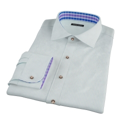 Chalk Blue End-on-End Stripe Custom Dress Shirt