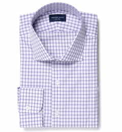 Thomas Mason Lavender Grid Custom Dress Shirt