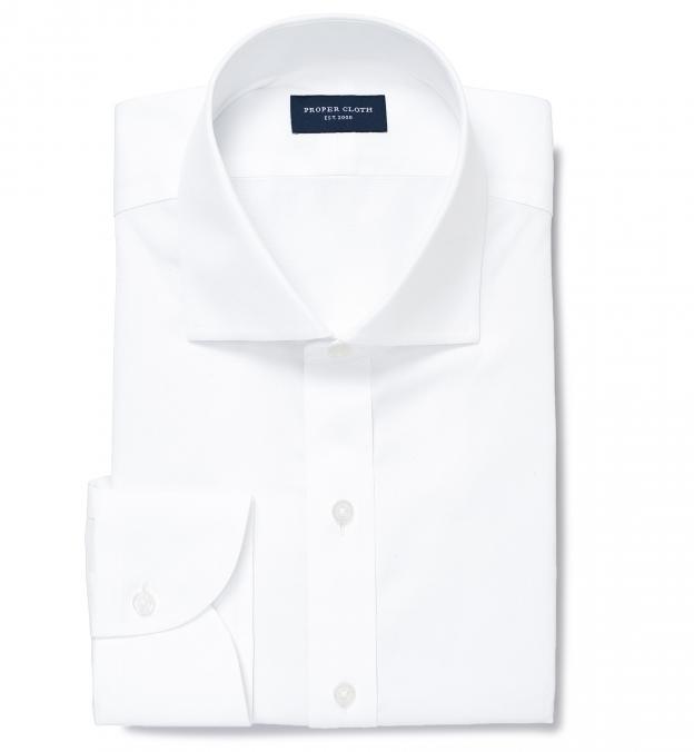 Thomas mason non iron white pinpoint fitted shirt by for Thomas mason dress shirts