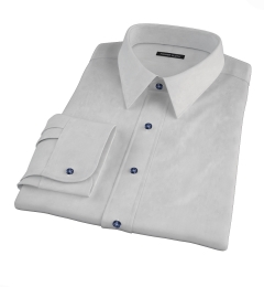 Bowery Light Grey Wrinkle-Resistant Pinpoint Tailor Made Shirt