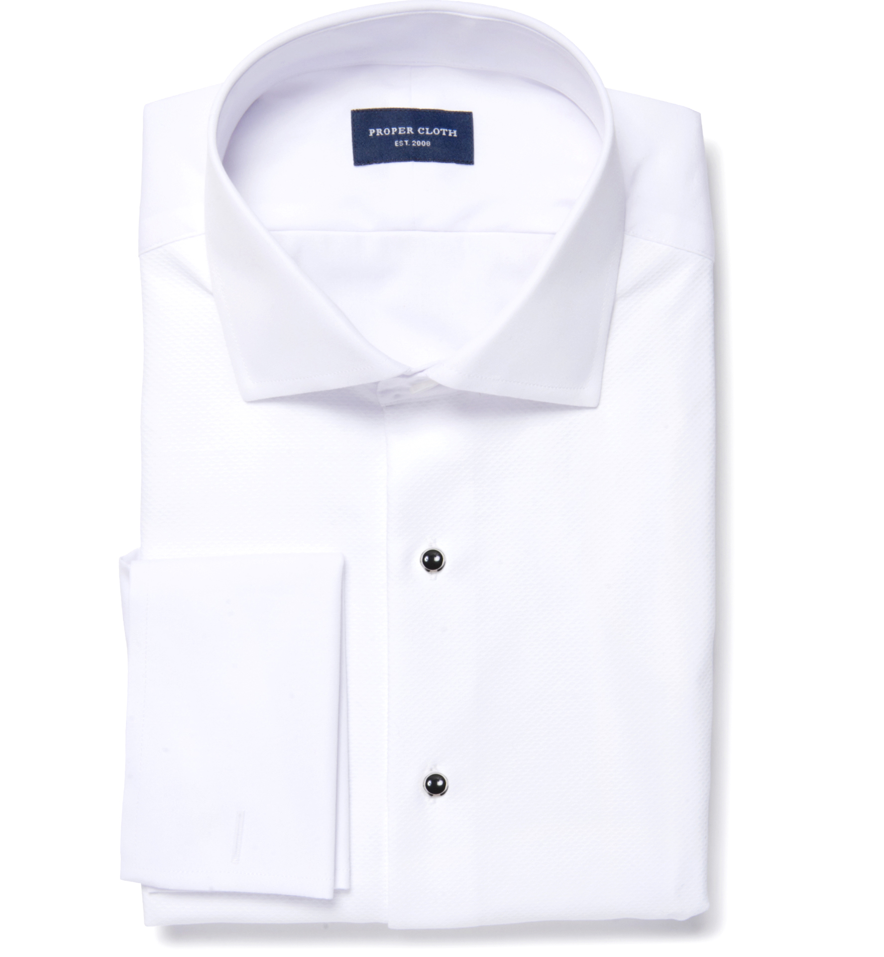 Thomas mason white luxury broadcloth men 39 s dress shirt by for Proper cloth custom shirt price