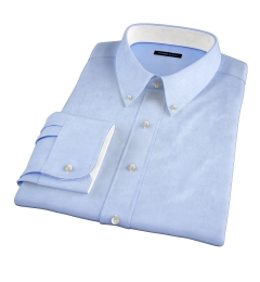 Canclini Blue Herringbone Tailor Made Shirt