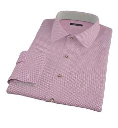 Canclini Maroon Flower Print Men's Dress Shirt