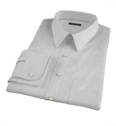 Bowery Light Grey Wrinkle-Resistant Pinpoint Custom Made Shirt