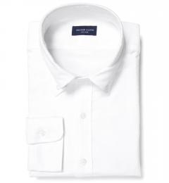 White Heavy Oxford Dress Shirt
