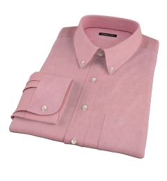 Red Heavy Oxford Fitted Shirt