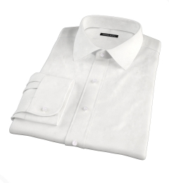 White Wrinkle-Resistant Cavalry Twill Fitted Shirt
