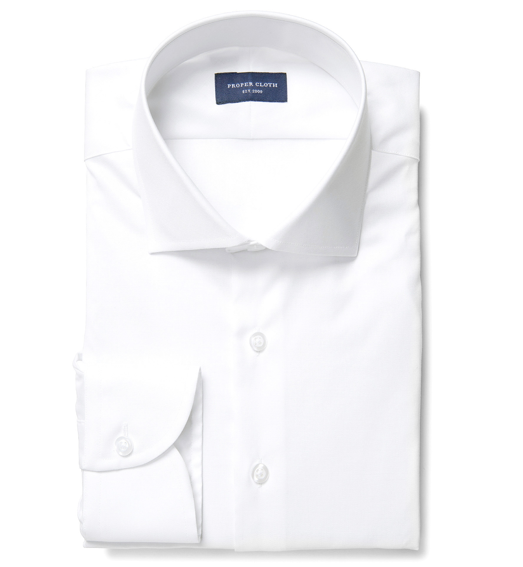 White extra wrinkle resistant twill dress shirt by proper for Wrinkle resistant dress shirts