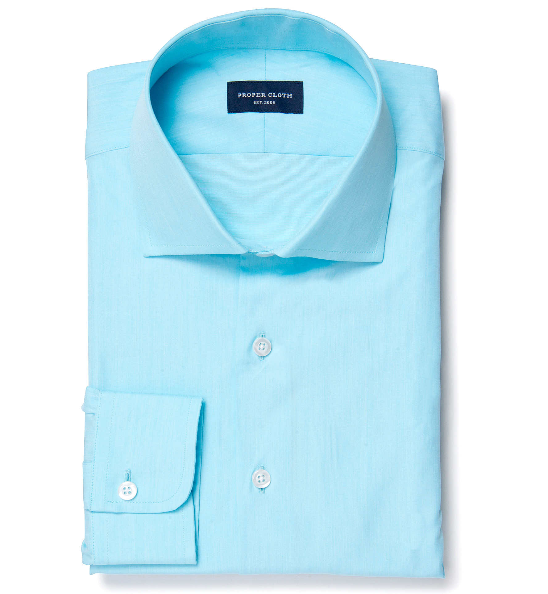 Genova 100s aqua end on end fitted dress shirt by proper cloth for Proper cloth custom shirt price