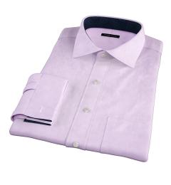 Lavender Wrinkle-Resistant Cavalry Twill Custom Dress Shirt