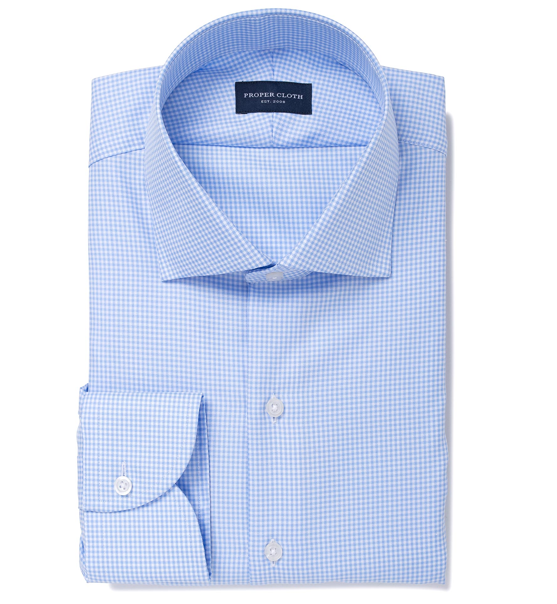 Mayfair wrinkle resistant light blue gingham dress shirt for Wrinkle resistant dress shirts