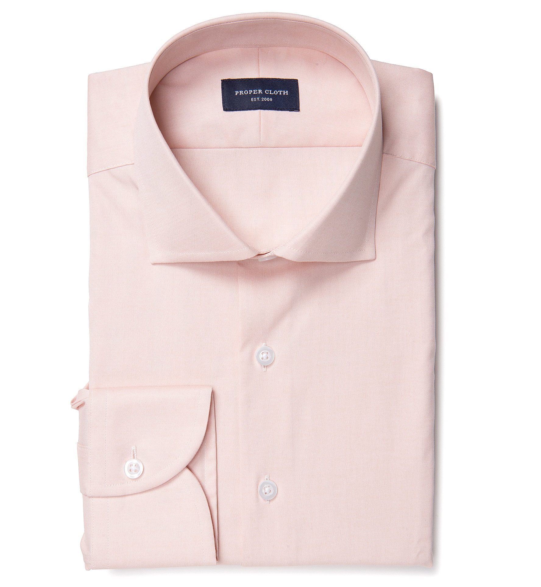 Bowery peach wrinkle resistant pinpoint dress shirt by for Best wrinkle free dress shirts