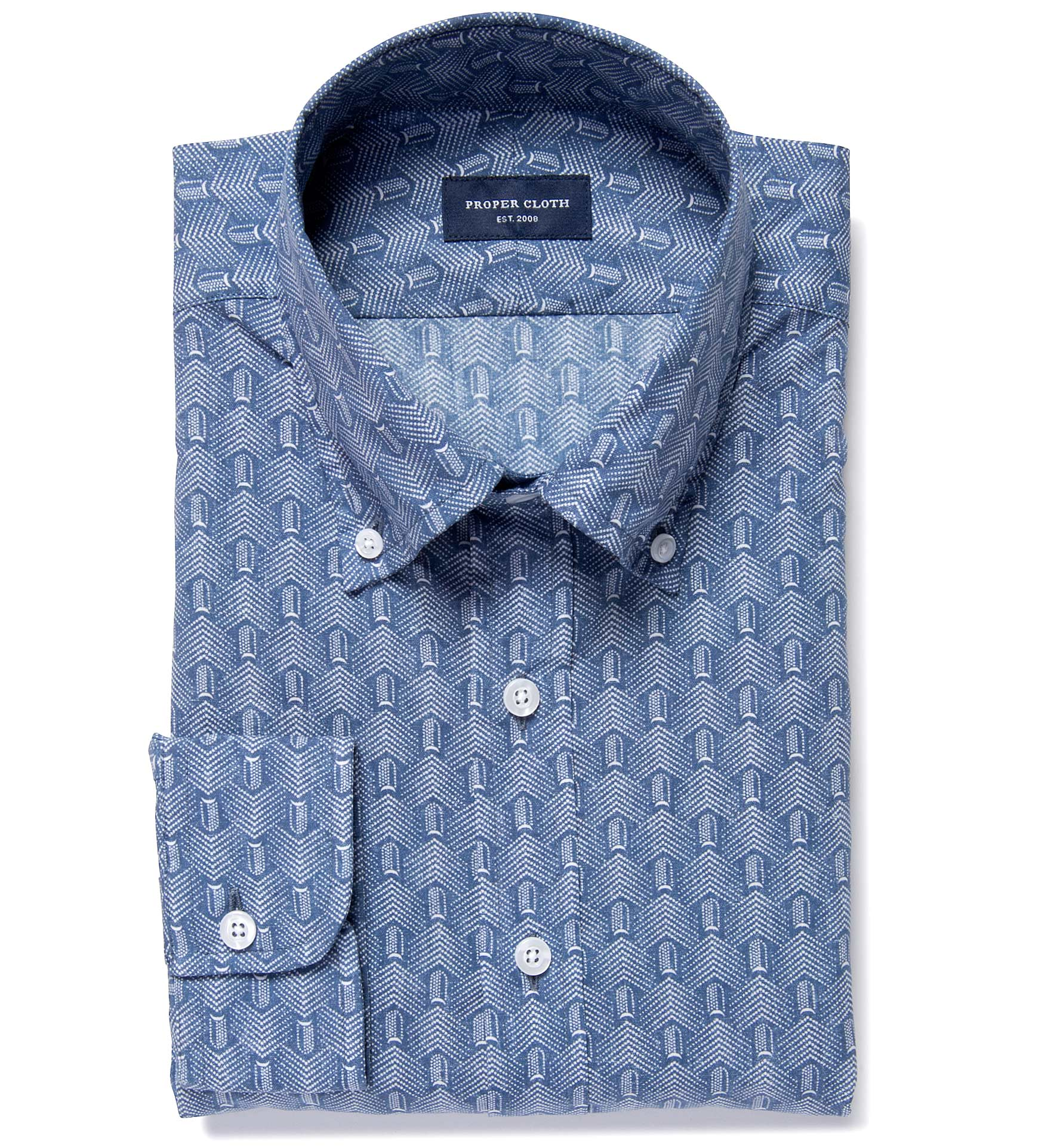 Katazome Faded Arrow Print Men's Dress Shirt by Proper Cloth