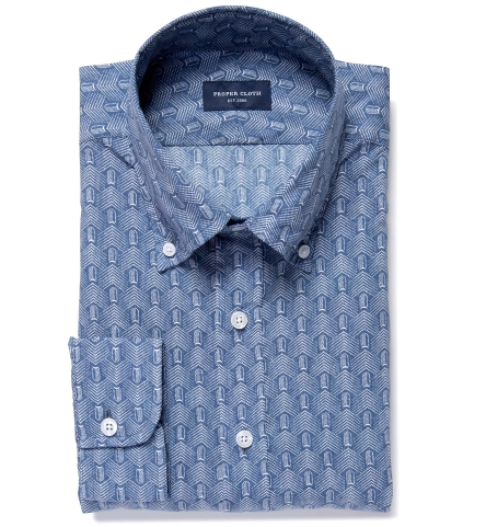 Japanese katazome prints proper cloth for Proper cloth custom shirt price