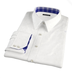 White Wrinkle-Resistant Rich Herringbone Tailor Made Shirt