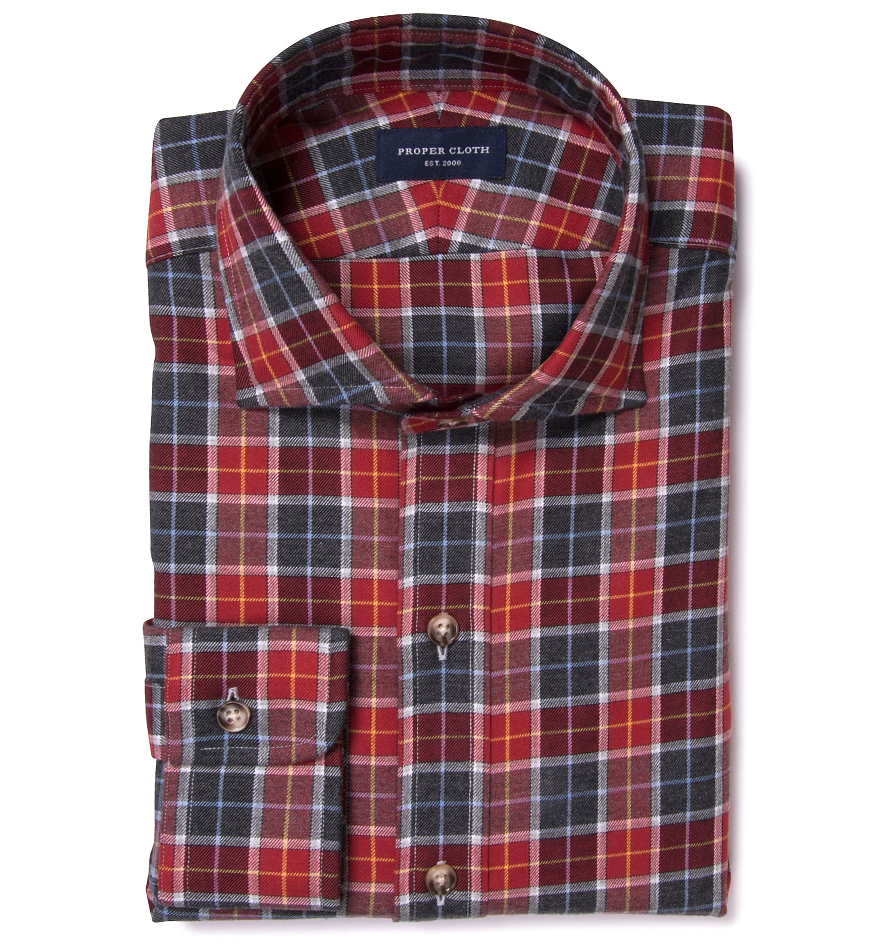 Rust dock street flannel custom dress shirt by proper cloth for Proper cloth custom shirt price