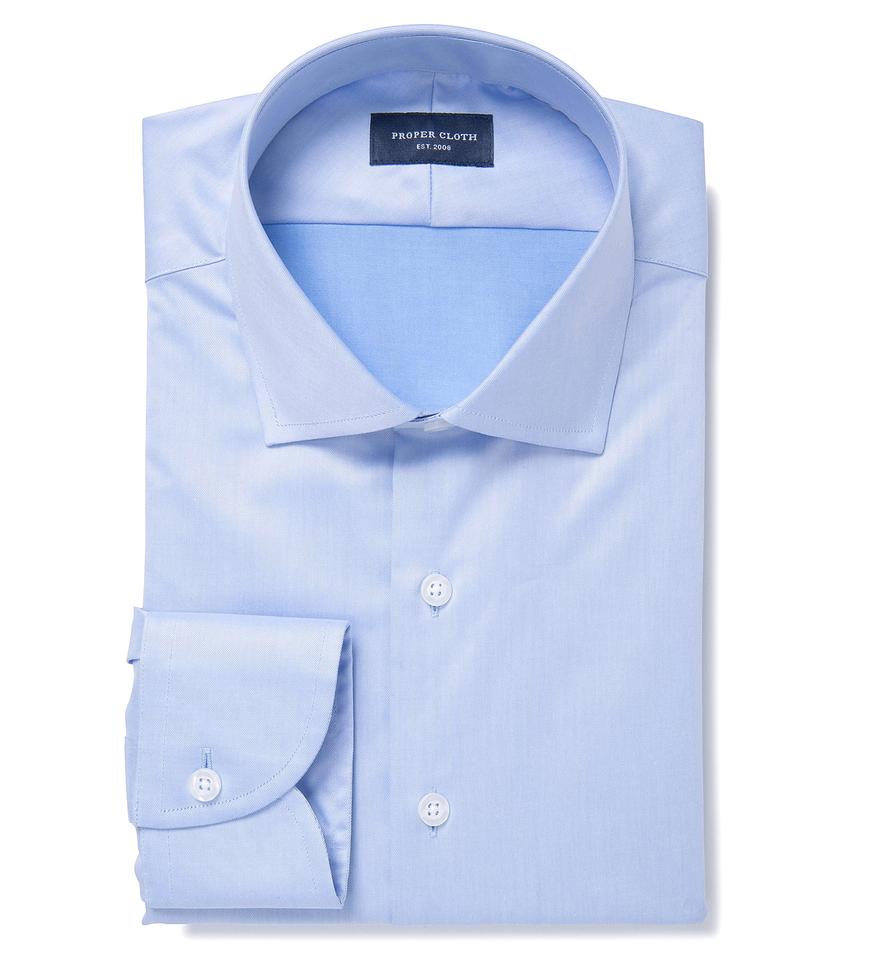 Hudson blue wrinkle resistant twill men 39 s dress shirt by for Wrinkle resistant dress shirts