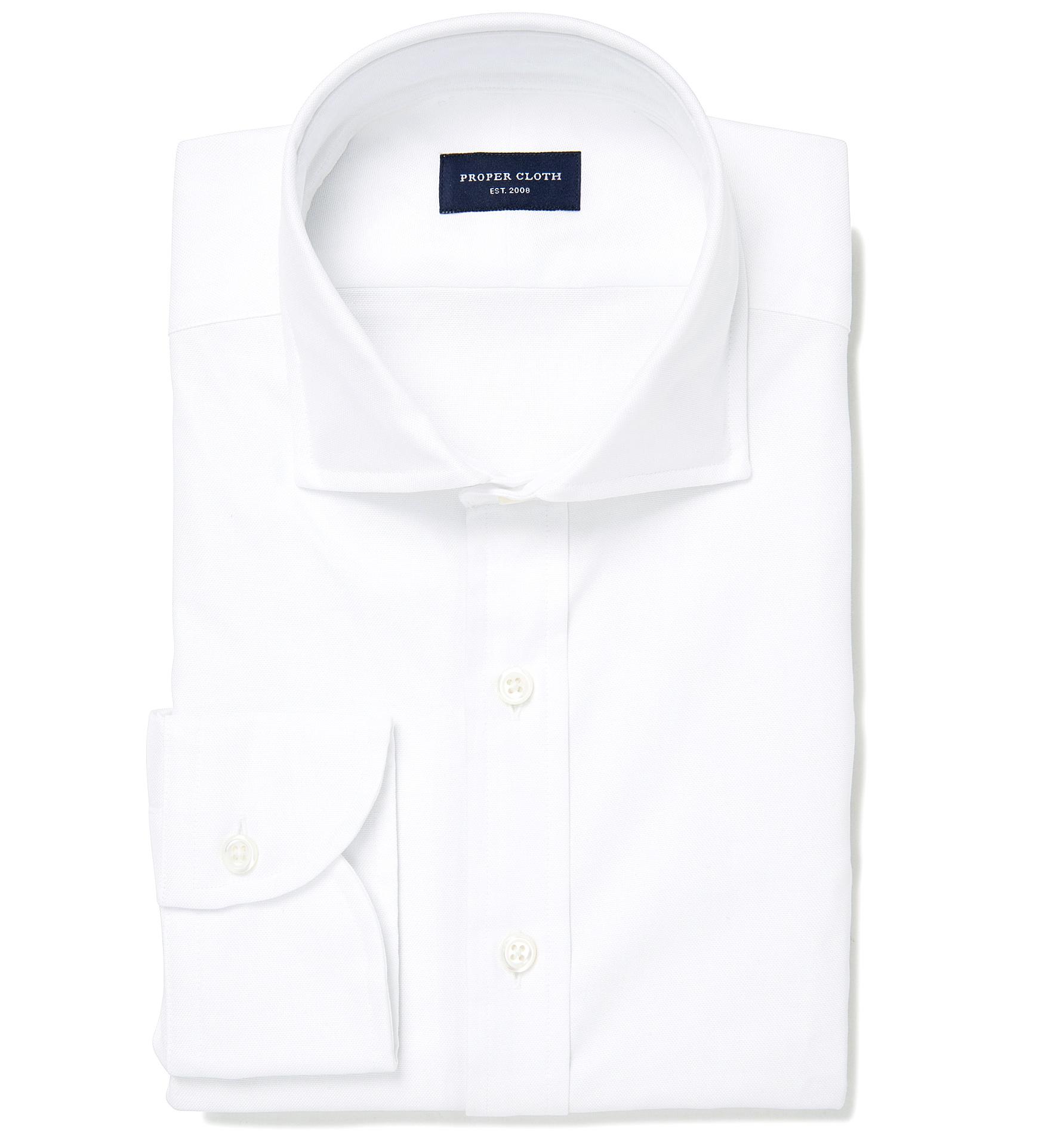 Thomas mason white oxford men 39 s dress shirt by proper cloth for Thomas mason dress shirts