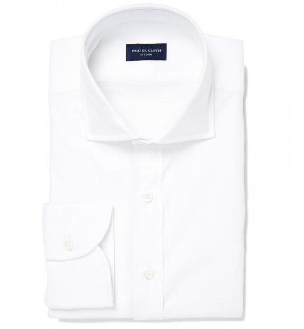 Thomas Mason White Oxford Men 39 S Dress Shirt By Proper Cloth