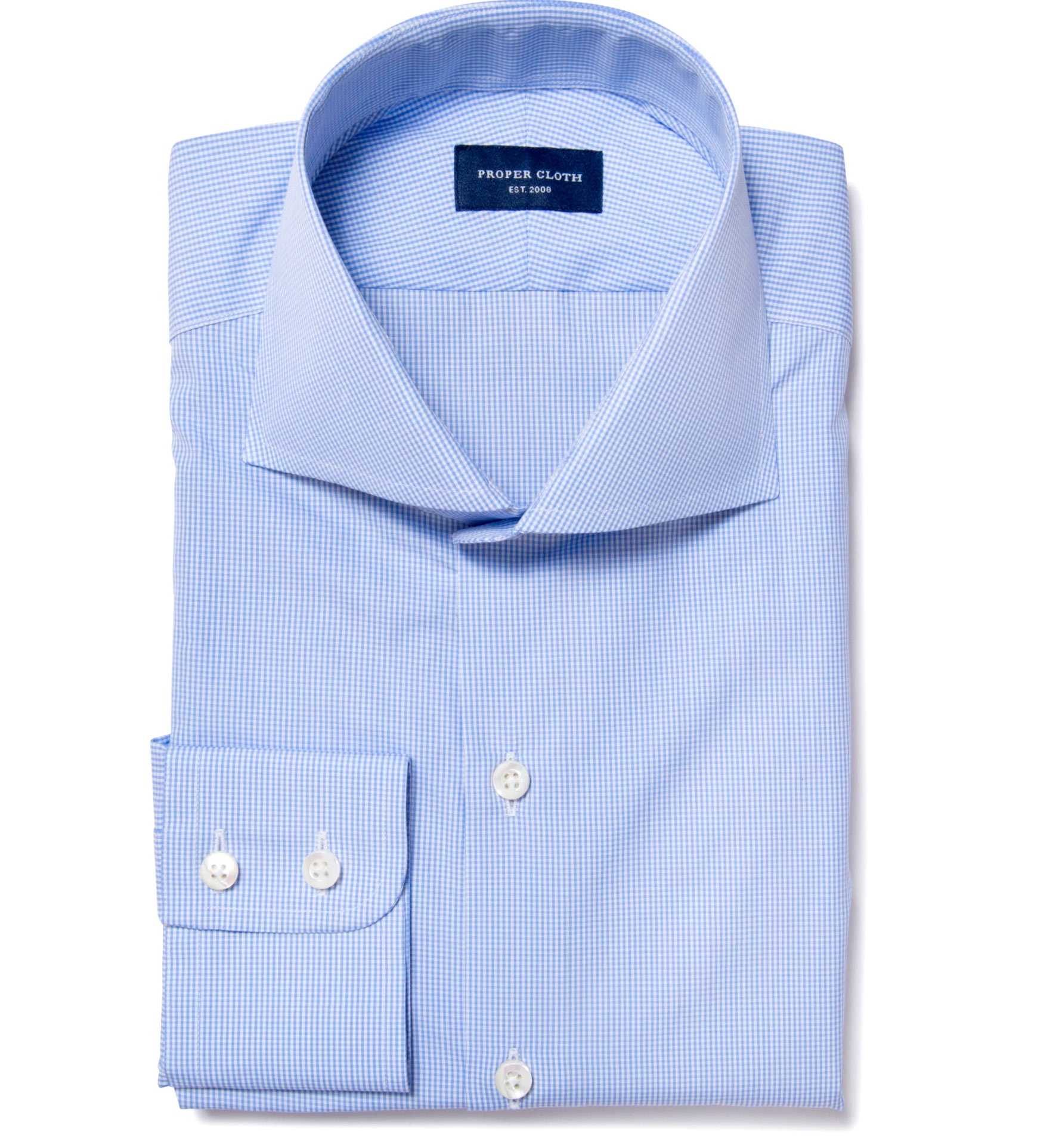 Thomas Mason Goldline Micro Check Custom Made Shirt By