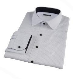 Albini Grey and Black Tattersall Men's Dress Shirt