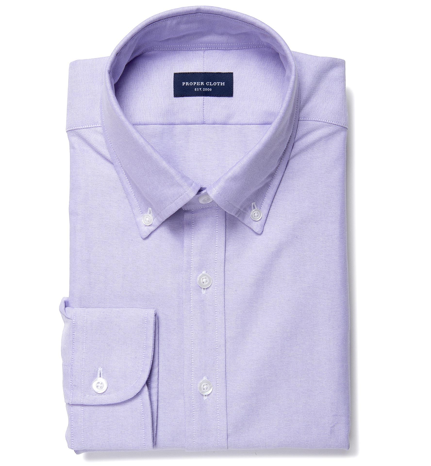 Lilac heavy oxford men 39 s dress shirt by proper cloth for Mens lilac dress shirt