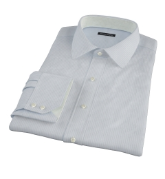 Light Blue Grey Stripe Men's Dress Shirt
