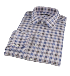 Vincent White Navy Red Plaid Custom Made Shirt