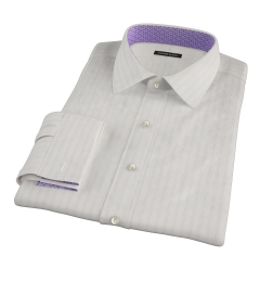 Light Pink Satin Stripe Dress Shirt