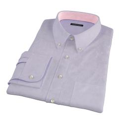 Lilac Heavy Oxford Custom Made Shirt